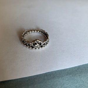 Pandora diamond princess crown ring